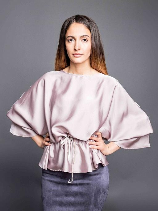 3bceb30616e картинка Блузка атласная (розовый) от интернет магазина